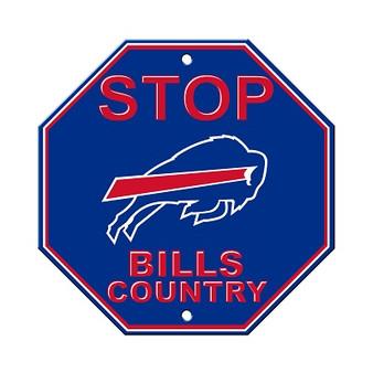 Buffalo Bills Plastic Stop Sign 92523