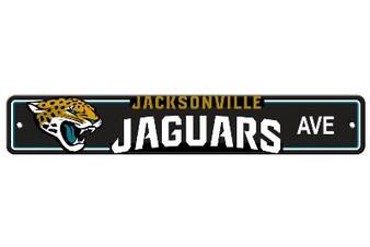 Jacksonville Jaguars Plastic Street Sign 92336