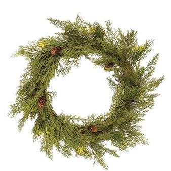 Alpine Cedar Wreath FXP78420