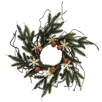 Snowflake Berry & Bell Candle Ring FXQ09754CL
