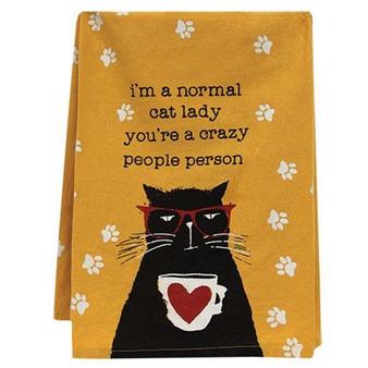 Normal Cat Lady Dish Towel G101667