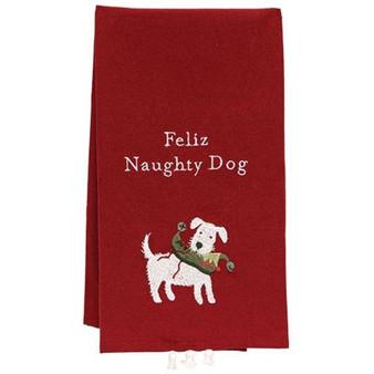 Feliz Naughty Dog Dish Towel G106679