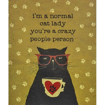 Normal Cat Lady Plush Flannel Throw G109752