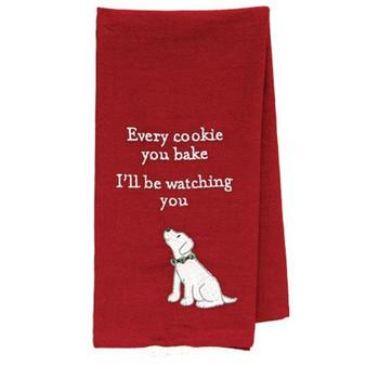 I'Ll Be Watching You Doggie Dish Towel G109968