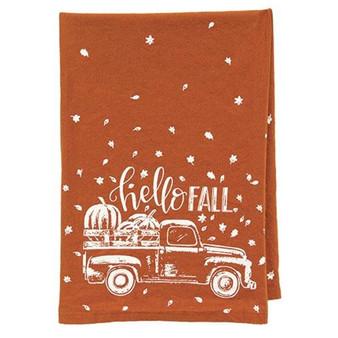 Hello Fall Pumpkin Truck Dish Towel G109981