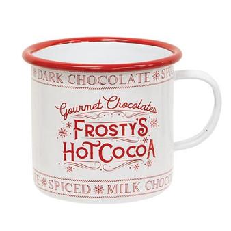 Frosty'S Hot Cocoa Enamel Mug G60374