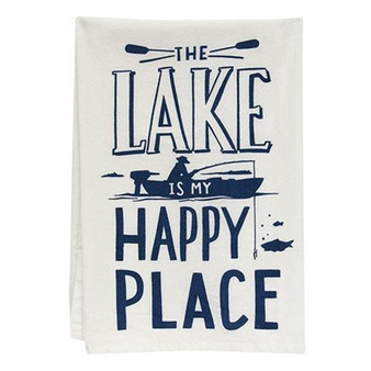 The Lake Is My Happy Place Dish Towel GP35518