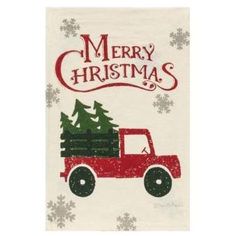 Merry Christmas Truck Dish Towel GP36095