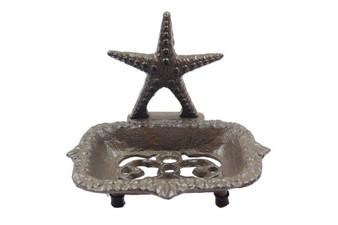"Cast Iron Starfish Soap Dish 6"" K-9673-Cast-Iron"