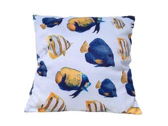 "Decorative Butterfly Fish Throw Pillow 16"" Pillow 123"