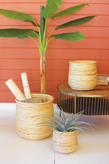 Set Of 3 Woven Willow Planters (CLAN1102)