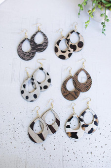 Set Of 6 Assorted Animal Print Earrings (NGRA1065)