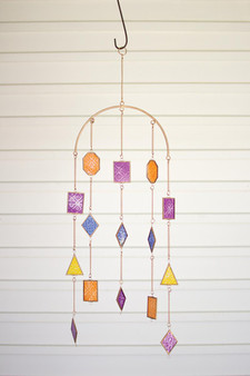 Colored Glass Wind Chime (NNV1150)