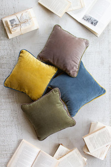 Square Velvet Pillow - Steel Blue (NRV2107)
