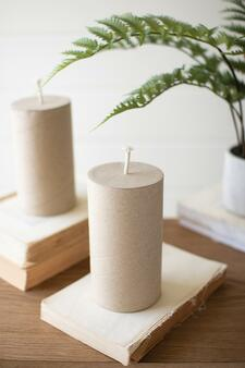 Cardboard Faux Candle (Pack Of 6) (NRV2211)