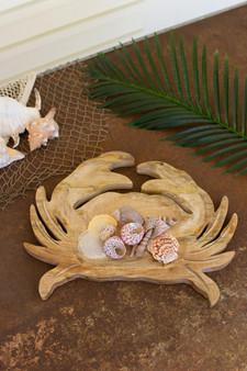 Carved Wooden Crab Platter (NTBM1017)
