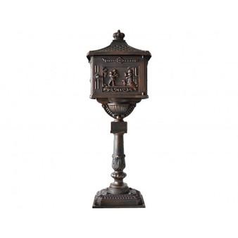 Mail Box Heavy Duty Mailbox Postal Box Security Cast Aluminum Vertical Pedestal-Bronze (HW45239BN)
