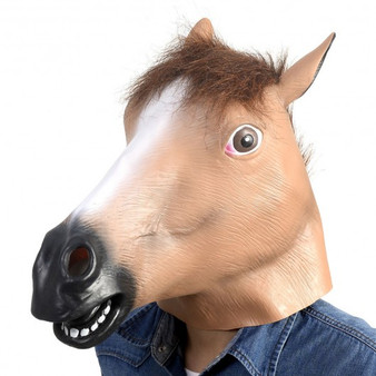 New Animal Costume Mask Latex Prop Gangnam Style Toys Party Halloween Christmas-Brown Horse (CM19569)