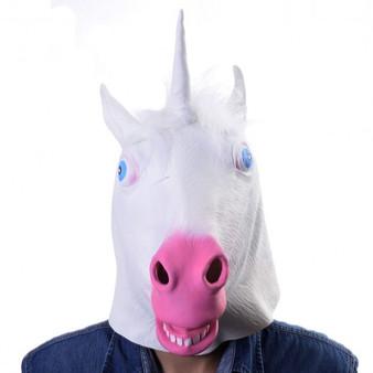 New Animal Costume Mask Latex Prop Gangnam Style Toys Party Halloween Christmas-Unicorn (CM19570)