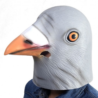 New Animal Costume Mask Latex Prop Gangnam Style Toys Party Halloween Christmas-Pigeon (CM19571)