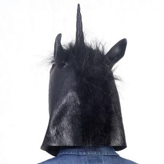 New Animal Costume Mask Latex Prop Gangnam Style Toys Party Halloween Christmas-Black Horse (CM19573)
