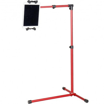 Universal Adjustable Rotating Ipad/Tablet Pc Holder Floor Mount Stand -Red (HW47514RE)