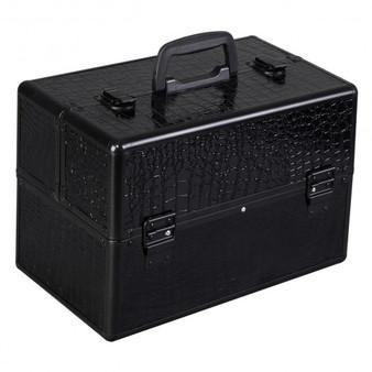 "14"" X 9"" X 10"" Aluminum Makeup Case Cosmetic Organizer-Bcrd (BG48221BCRD)"