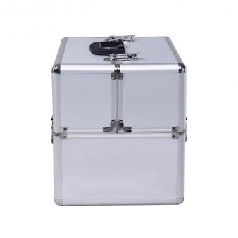 "14"" X 9"" X 10"" Aluminum Makeup Case Cosmetic Organizer-Sl (BG48221SL)"