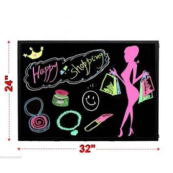 "32"" X 24"" Fluorescent Erasable Flashing Led Writing Board (EP20963)"