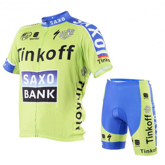 Men Cycling Jersey Short Sleeve Suit Set Bike Bicycle Clothing Breathable Padded-L (SP34546-L)