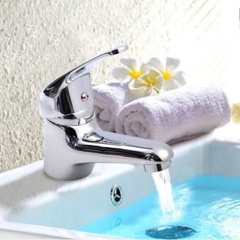 "5.7"" X 5"" X 2.1"" Chrome Kitchen Bathroom Wash Basin Faucet Bath Hot/Cold Mixer Water Tap (BA7046)"