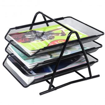 3 Tier Mesh Desk Tray Organizer Storage Rack Holder File Folder Document Paper (ST34518)