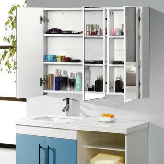 "36"" Bathroom Medicine Cabinet With 3 Mirrors (HW67577)"
