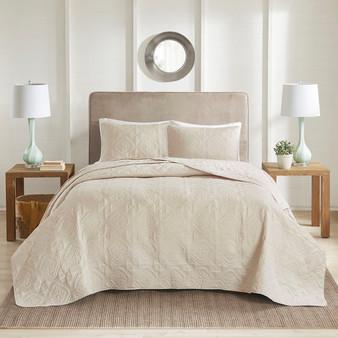 100% Polyester Microfiber Bedspread Set - King/Cal King 5DS13-0167