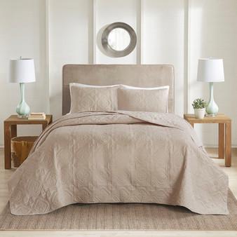 100% Polyester Microfiber Bedspread Set - King/Cal King 5DS13-0169