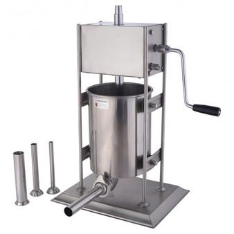 10L Vertical Sausage Stuffer 2 Speed Filler Meat Maker Machine Stainless Steel (KC40431)