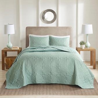 100% Polyester Microfiber Bedspread Set - King/Cal King 5DS13-0171