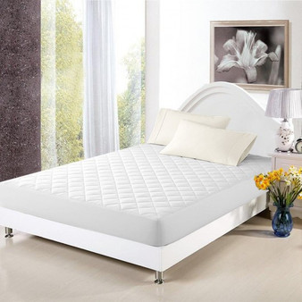 Mattress Cover Bed Topper Bug Dust Mite Waterproof Pad Protector Quilted 5 Size-Queen Size (HT0907Q)
