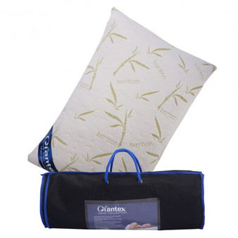 King Size Bamboo Memory Foam Hypoallergenic Pillow With Carry Bag (HT0913)