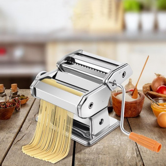 Stainless Steel Pasta Maker Roller Machine With Clamp (KC41257)