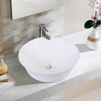 Round Bathroom Ceramic Vessel Sink (BA7161)