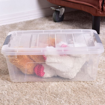Stackable Buckle-Up Storage Box Container (HW55014)