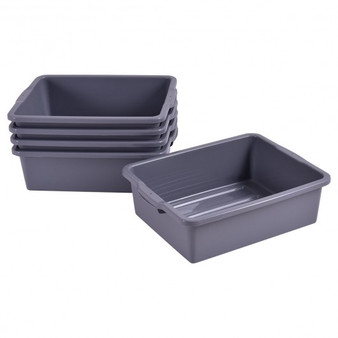 Opaque Plastic 5 Pack 30 Quart Kitchen Storage Containers (HW55019)