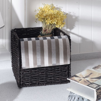 Set Of 3 Folding Cube Rattan Storage Baskets (HW55610)