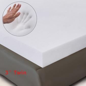 """39"""" X 75"""" X 3"""" Twin Size Memory Foam Mattress (HT0985T)"""