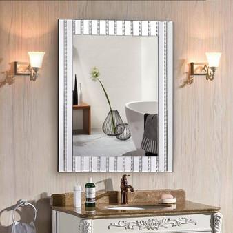 "23.5"" X 31.5"" Rectangle Wall Vanity Mirror With Resin Diamond (HW56053)"