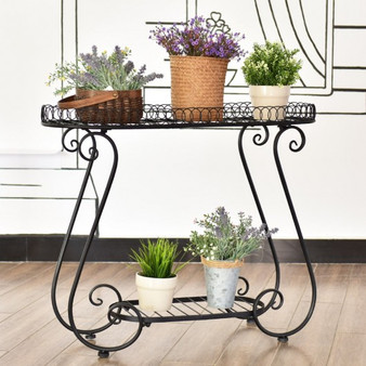 Metal Stand Flower Pot Plant Holder Display Rack (OP3343)