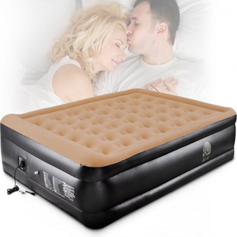 Queen Size Double Inflatable Raised Air Bed Mattress (HW54763US)
