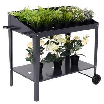 Raised Garden Bed Potting Bench Plant Storage Shelf (GT3024)