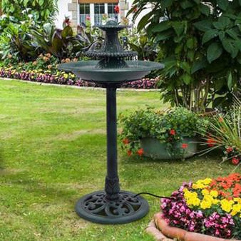 Reward-3 Tiers Outdoor Bird Decor Pedestal Water Fountain With Pump (PTEX-OP3358)